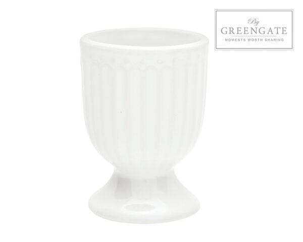 Greengate Porta uovo bianco Alice